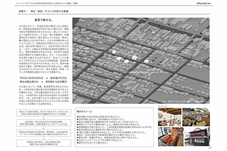 アーツトワダ 中心市街地の経済活性に主眼をおいた調査・提案 Arts Towada / Economic Investigation and Revitalization Proposals 現代美術・アート Contemporary Art